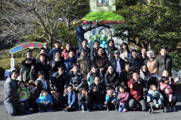 東山動物園で集合写真