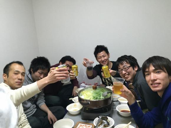 東京メンバー忘年会。かんぱーい!
